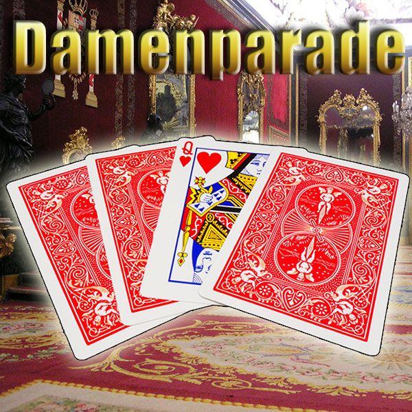Damenparade Kartentrick