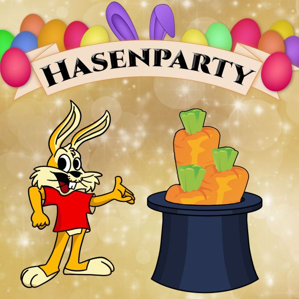 Hasenparty Kartentrick