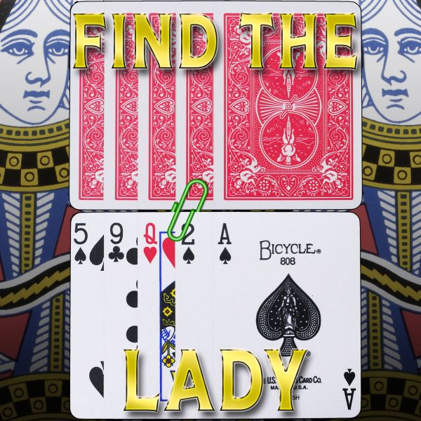 Find the Lady - Bicycle Size einfach vorzuführender Kartentrick zum Verschenken