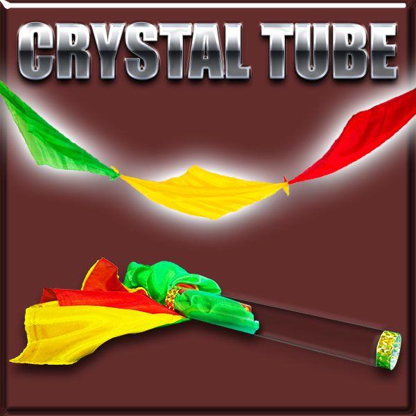 Crystal Tube Zaubertrick mit Seidentüchern