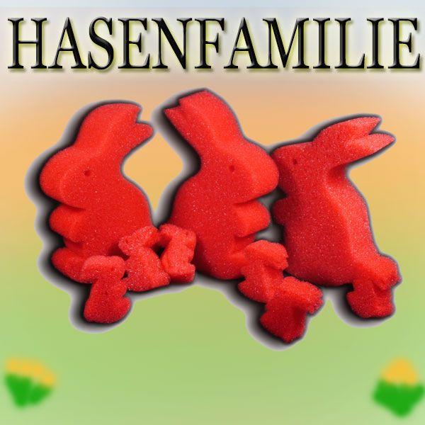 Hasenfamilie Zaubertrick mit Schaumstoffhasen Gosh