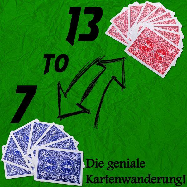 13 to 7 - Jupiter Kartentrick