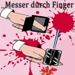 Messer durch Finger
