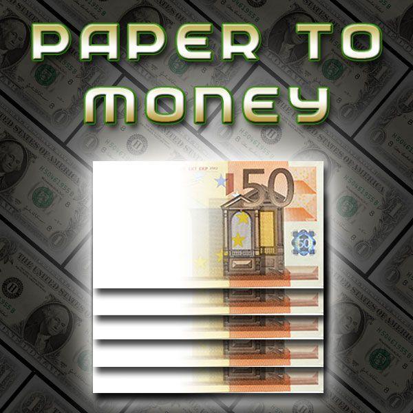 Paper to Money Zaubertrick Bühne