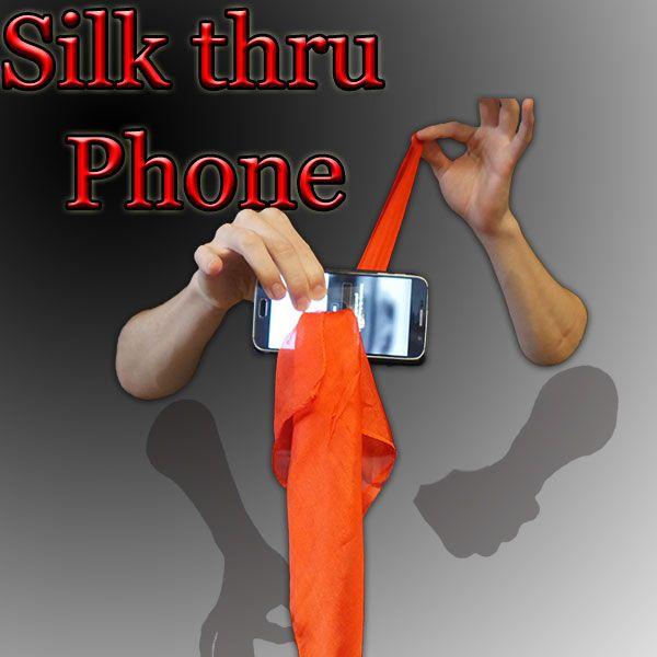 Silk thru Phone Zaubertrick
