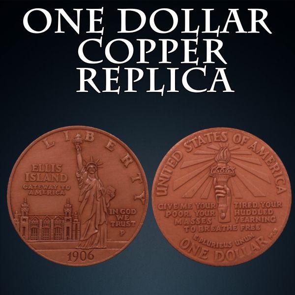 One Dollar Copper Replica