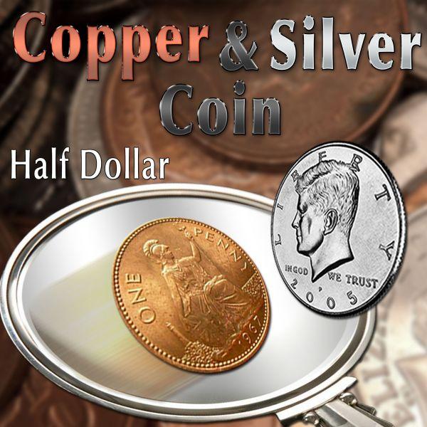 Copper Silver Coin Half Dollar Trickmünze Zaubrn mit Münzen