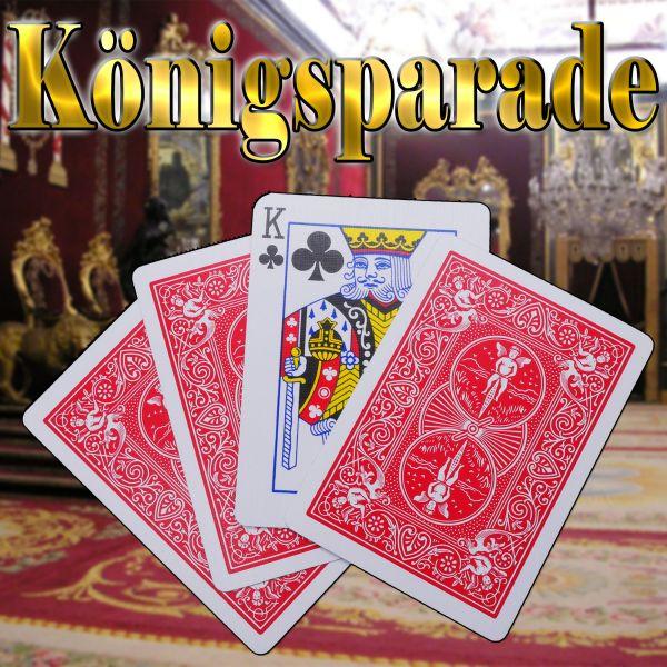 Königsparade Kartentrick