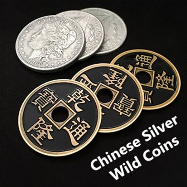 Chinese Silver Wild Coin Münzentrick Close Up