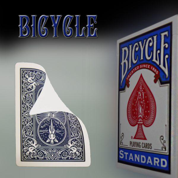 Bicycle Vorderseite blanko, Rückseite blau