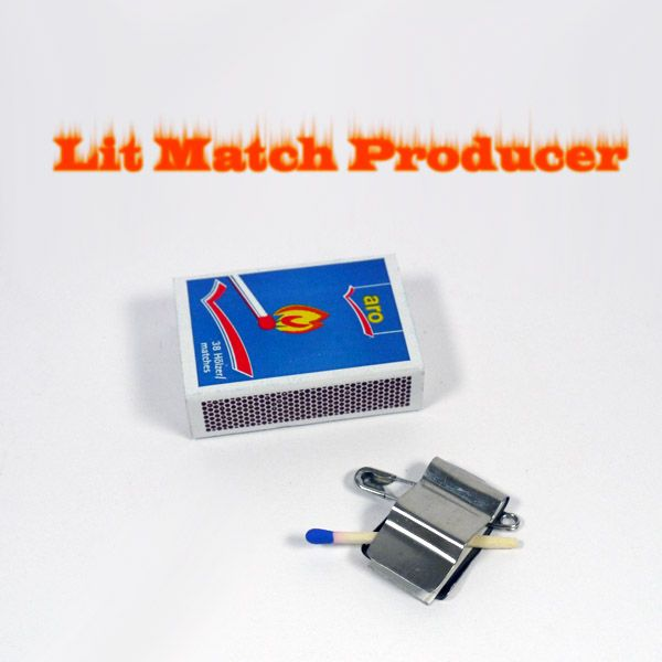 Lit Match Producer Zauberzubehör Produktion von brennendem Streichholz