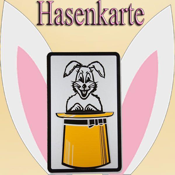 Hasenkarte Zaubertrick für Kinder