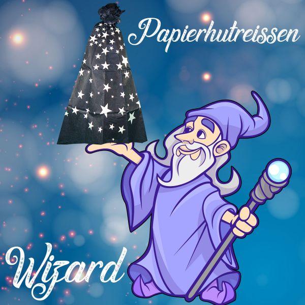 Papierhutreißen Wizard Zaubertrick