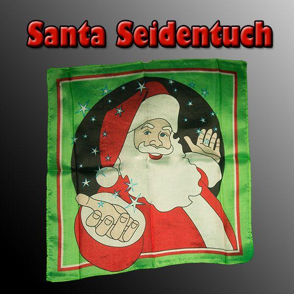 Santa Seidentuch Zaubertrick für Weihnachten