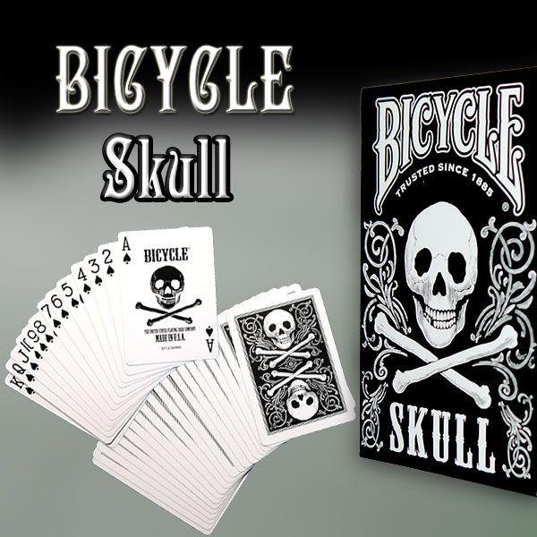 Bicycle - Skull Kartenspiel für Zauberkünstler