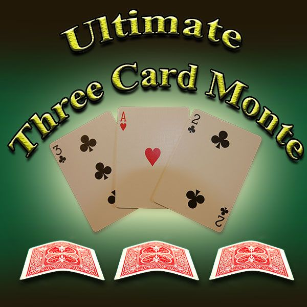 Ultimate Three Card Monte toller zaubertrick Kartentrick
