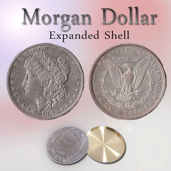 Morgan Dollar Expanded Shell Trickmünze Zauberzubehör