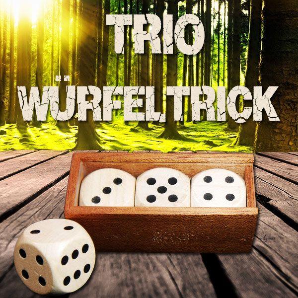 Trio Würfeltrick Zaubertrick