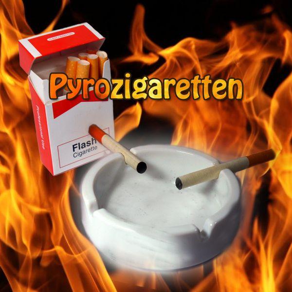 Pyrozigaretten Zauberzubehör Zigarette verschwindet in einem Feuerblitz Zaubertrick