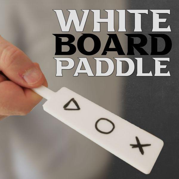 white Board Paddle Kellentrick für den Filzschreiber