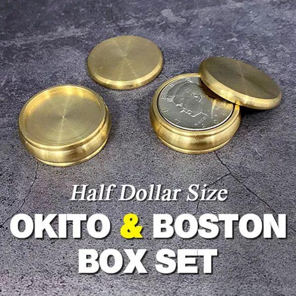 Okito und Boston Box Set Half Dollar Münzentrick