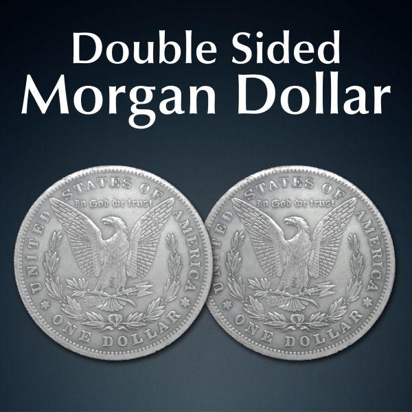 Doppelkopfmünze Morgan Dollar