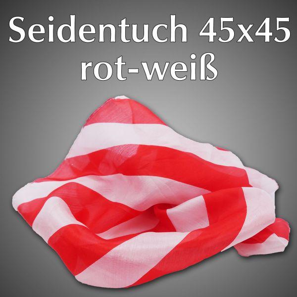 Seidentuch 45x45 Rot-Weiß