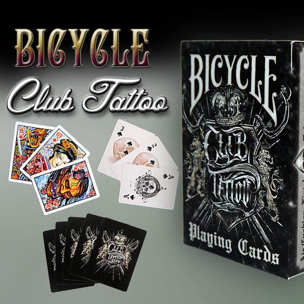 Bicycle - Club Tattoo Kartenspiel für Zauberkünstler