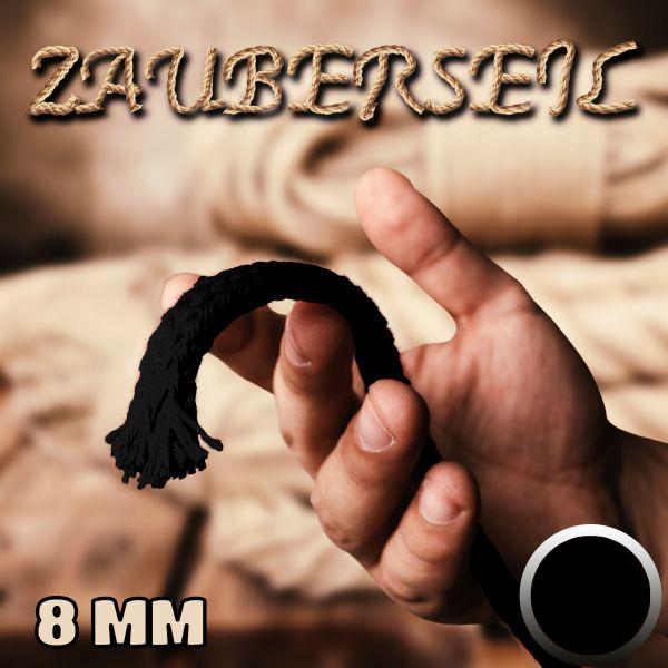 Zauberseil 8mm Schwarz Zauberzubehör