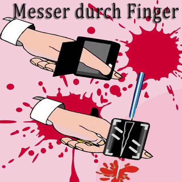 Messer durch Finger netter Trick für Anfänger