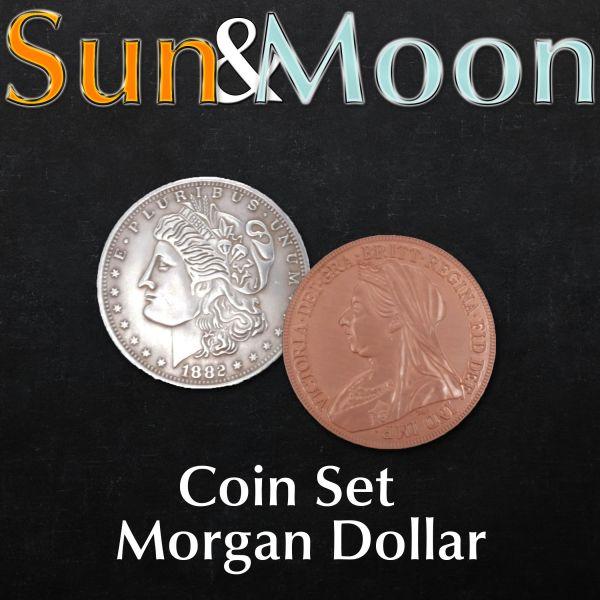 Sun and Moon Coin Set Zaubertrick mi Münzen