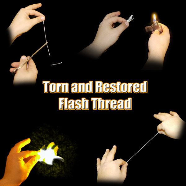 Torn and Restored Flash Thread Zaubertrick Stand-Up