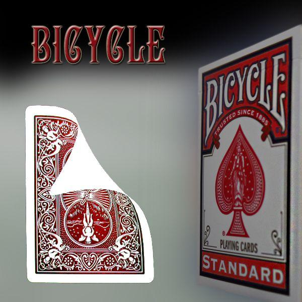 Bicycle Vorderseite blanko, Rückseite rot Trickkartenspiel für Zauberkünstler