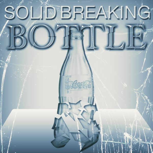 solid breaking bottle Zaubertrick Stand-Up