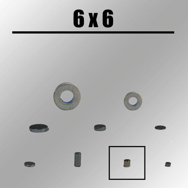Seilmagnet, rund, 6mm x 6mm