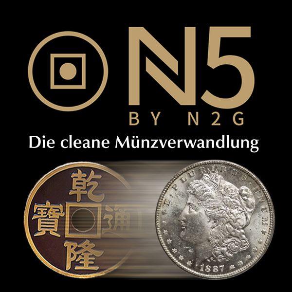 N5 BLACK Coin Set by N2G Zaubertrick