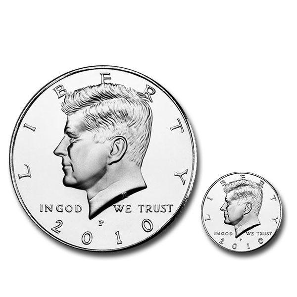 Riesenmünze Halfdollar Zauberzubehör Zaubern mit Münzen