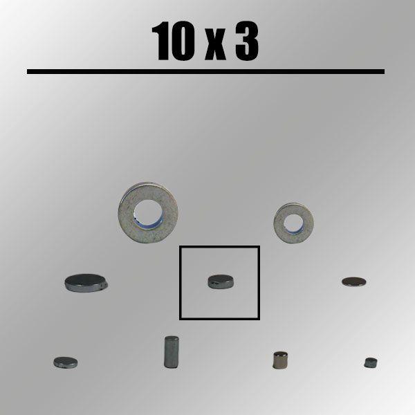 Magnet, rund, 10mm x 3 mm Zauberzubehör