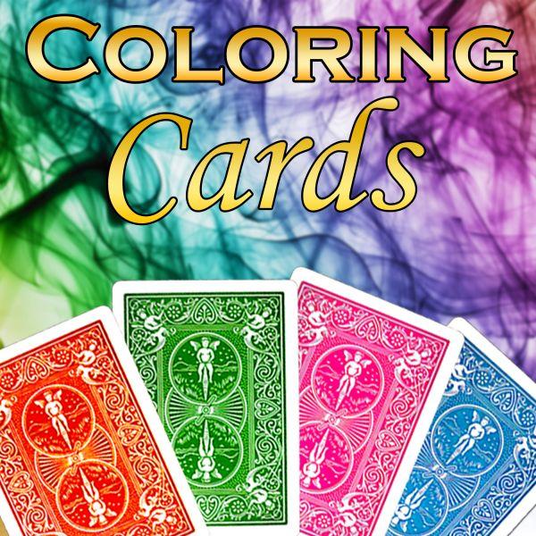Coloring Cards Fantastischer Zaubertrick mit Karten