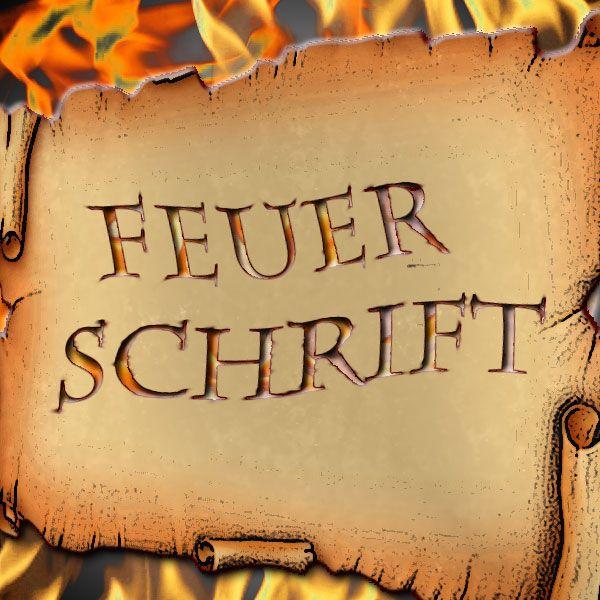 Feuerschrft Zauberzubehör für brennende Schrift