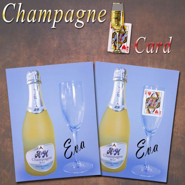 Champagne Card Stage Zaubertrick Stand-Up