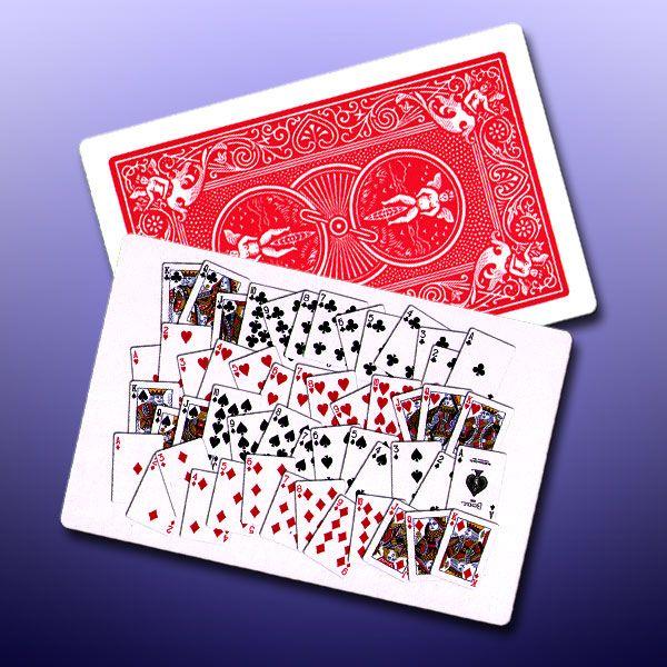 Alle 52 Trickkarte für Zauberkünstler