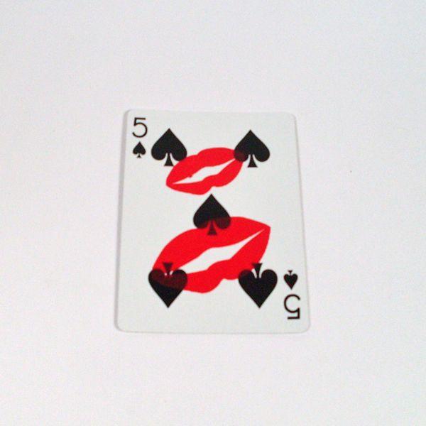 Kiss Card Trickkarte Bicycle