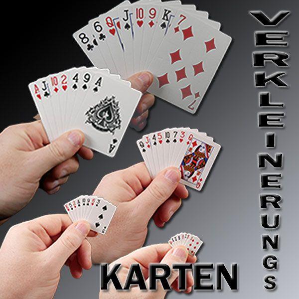 Verkleinerungs Karten Zaubertrick